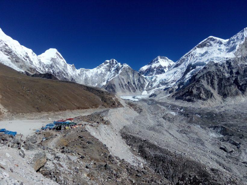 Gorakshep and surroudning mountain