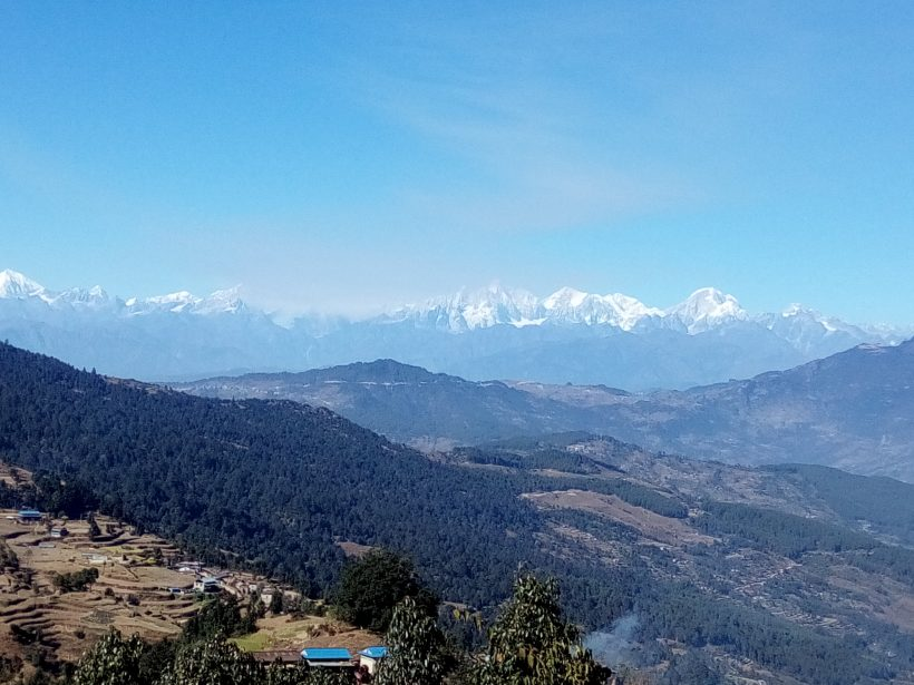 View of Mahabhart Ranges and Gaurishanker Himal from Thulo Sailung- Ramechhap-5
