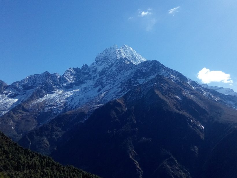 View of Thameserku Mountain from Namche 6623m