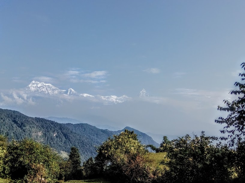 View of the Annapurna Range from Panchase Hill,2500m