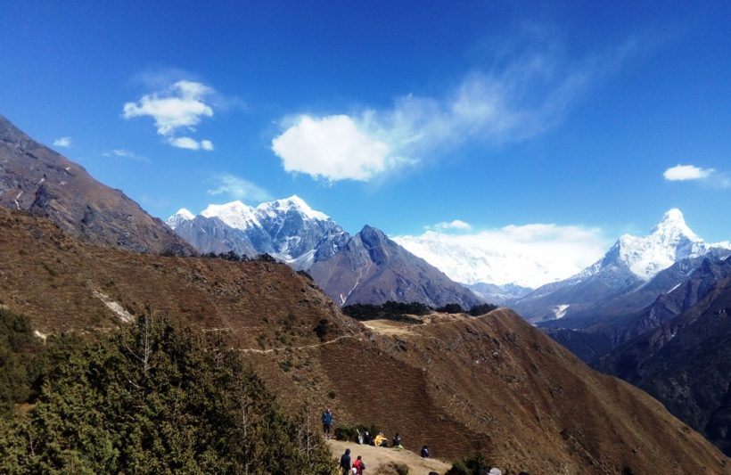 First view of Everest from Everest view point hotel