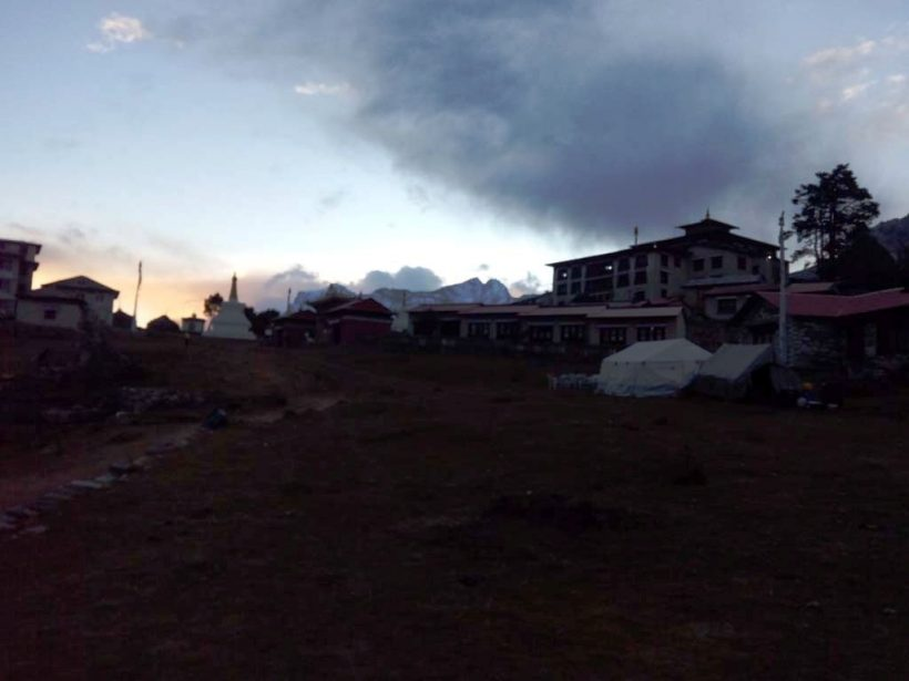 Tengboche monastery early in the morning